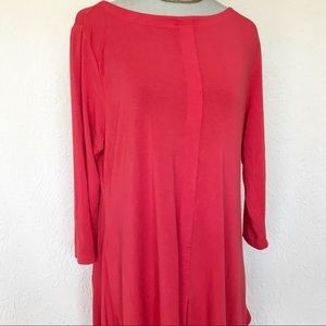 Soft Surroundings Timely Scoop Trapeze Tunic Top